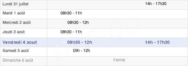 horaires d'ouverture de la Mairie De Saint Rémy De Sillé