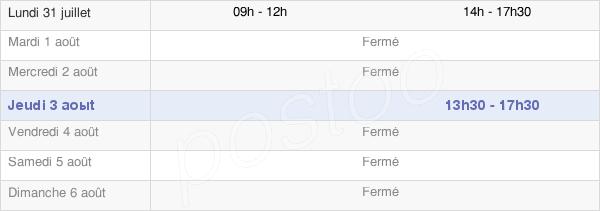 horaires d'ouverture de la Mairie De Chevillé