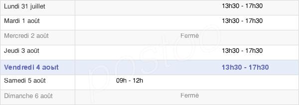 horaires d'ouverture de la Mairie De Saint Ouen De Mimbré