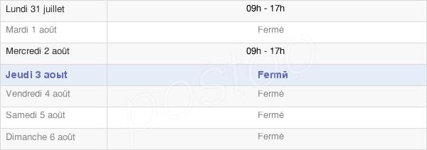 horaires d'ouverture de la Mairie De Beaufort