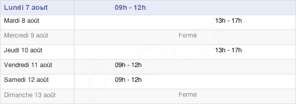 horaires d'ouverture de la Mairie De Joué-En-Charnie