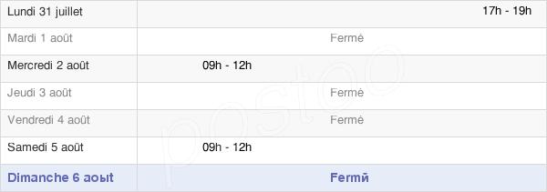 horaires d'ouverture de la Mairie De Neuvillette-En-Charnie