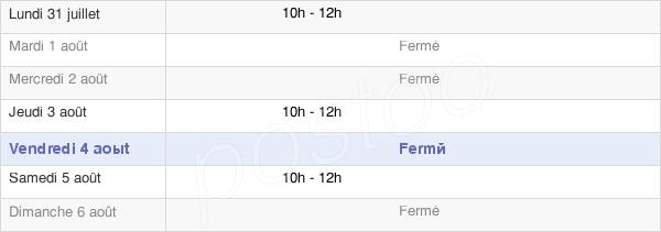 horaires d'ouverture de la Mairie De Viré-En-Champagne