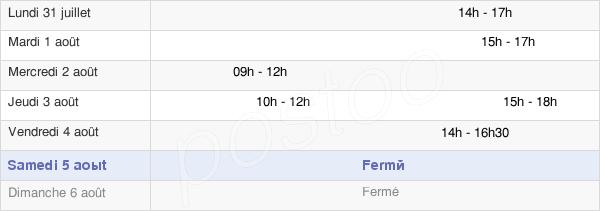 horaires d'ouverture de la Mairie De Saint-Germain-Sur-Sarthe