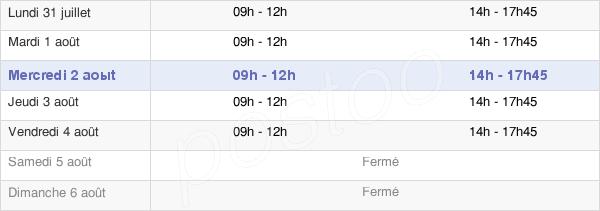 horaires d'ouverture de la Mairie D'Eaunes