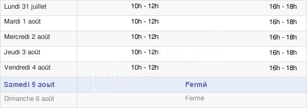 horaires d'ouverture de la Mairie De Saint-Pé-De-Bigorre