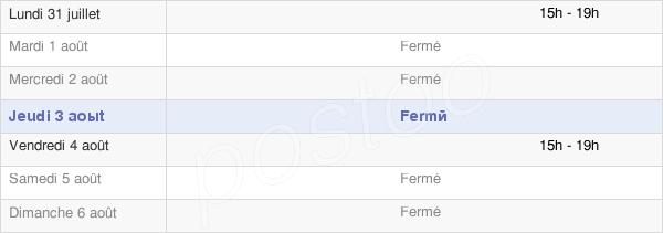 horaires d'ouverture de la Mairie De Bernac-Dessus