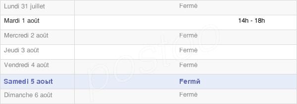 horaires d'ouverture de la Mairie De Devèze