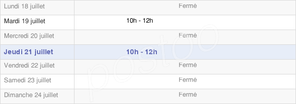 horaires d'ouverture de la Mairie De Lutilhous