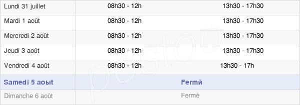 horaires d'ouverture de la Mairie De Lourdes