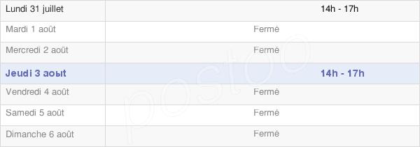 horaires d'ouverture de la Mairie D'Auriébat