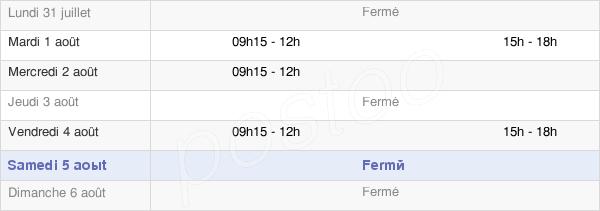 horaires d'ouverture de la Mairie De Cieutat