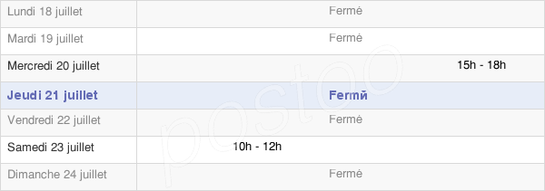 horaires d'ouverture de la Mairie D'Astugue