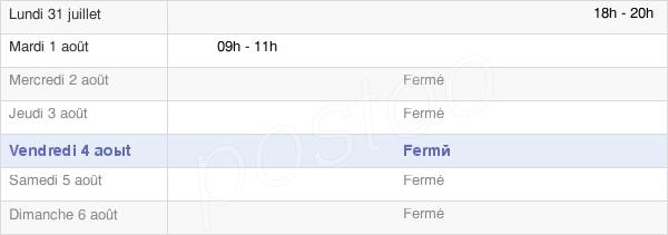 horaires d'ouverture de la Mairie De Pinas