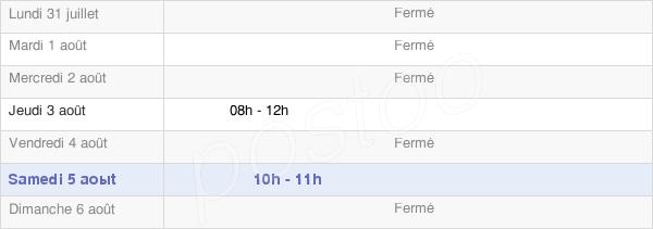 horaires d'ouverture de la Mairie D'Aubarède