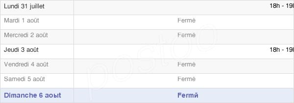 horaires d'ouverture de la Mairie De Ferrières