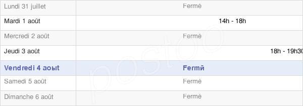 horaires d'ouverture de la Mairie D'Orignac