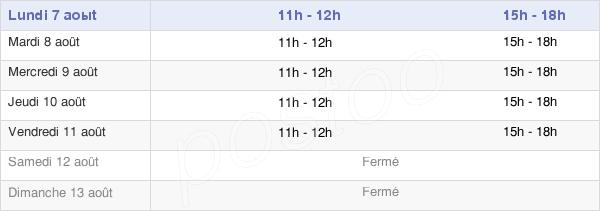 horaires d'ouverture de la Mairie D'Arrens-Marsous