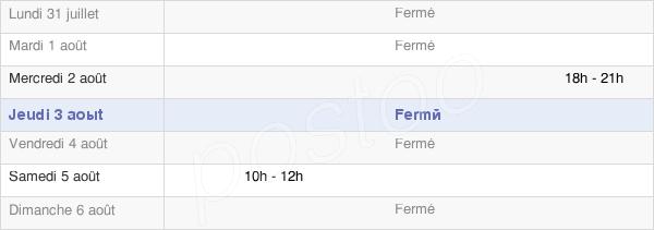 horaires d'ouverture de la Mairie De Gardères