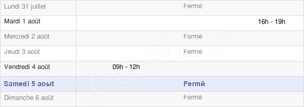 horaires d'ouverture de la Mairie De Betpouey
