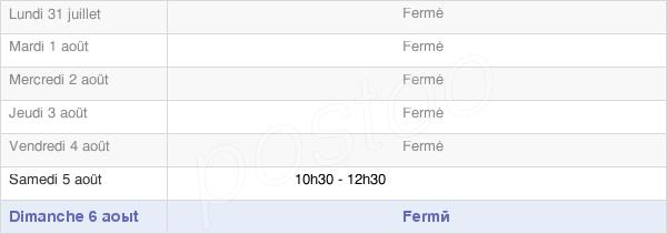horaires d'ouverture de la Mairie De Souyeaux