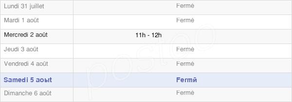 horaires d'ouverture de la Mairie D'Espieilh