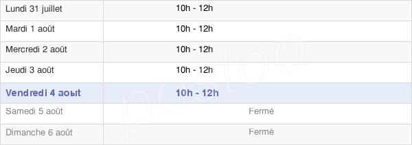 horaires d'ouverture de la Mairie De Hèches