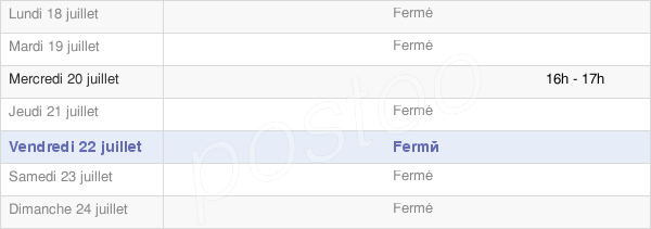 horaires d'ouverture de la Mairie De Fréchet Aure