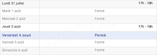 horaires d'ouverture de la Mairie De Bénac