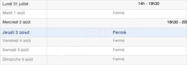 horaires d'ouverture de la Mairie D'Allier