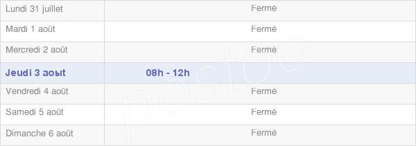 horaires d'ouverture de la Mairie D'Ansost