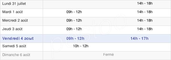 horaires d'ouverture de la Mairie De Lherm