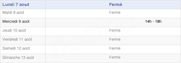 horaires d'ouverture de la Mairie De Ferrère