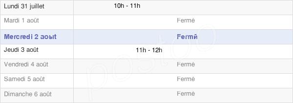 horaires d'ouverture de la Mairie De Bun