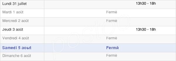 horaires d'ouverture de la Mairie De Goux