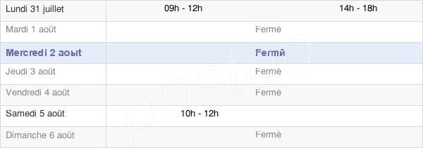 horaires d'ouverture de la Mairie De Chélan