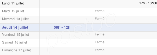 horaires d'ouverture de la Mairie D'Esmoulins