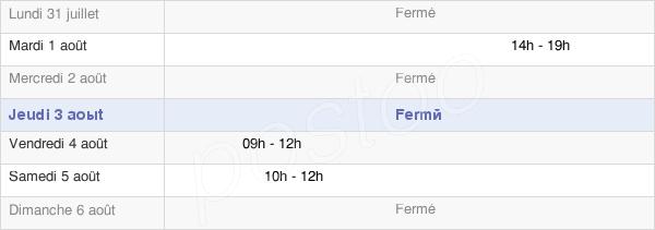 horaires d'ouverture de la Mairie De Boulot