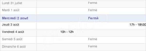 horaires d'ouverture de la Mairie De Fahy-Lès-Autrey