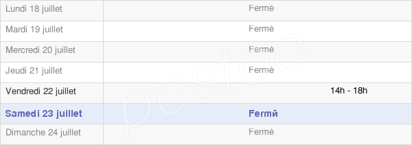 horaires d'ouverture de la Mairie De Broye-Les-Loups-Et-Verfontaine