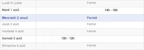 horaires d'ouverture de la Mairie De Beveuge