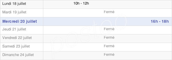 horaires d'ouverture de la Mairie De Fontenois-La-Ville