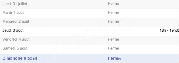 horaires d'ouverture de la Mairie De Francalmont