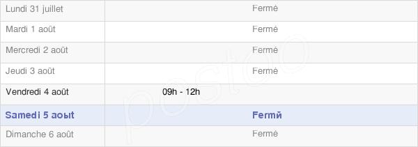 horaires d'ouverture de la Mairie De Grammont