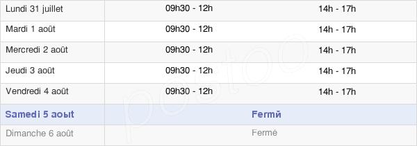 horaires d'ouverture de la Mairie De Dampierre-Sur-Salon