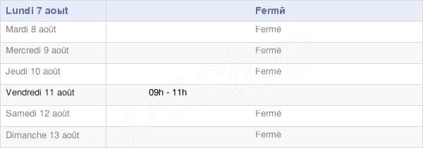 horaires d'ouverture de la Mairie De Georfans