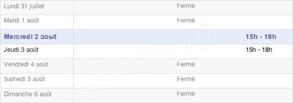 horaires d'ouverture de la Mairie De Lacombe
