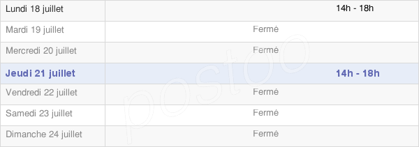 horaires d'ouverture de la Mairie D'Albières