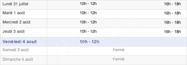 horaires d'ouverture de la Mairie D'Azille
