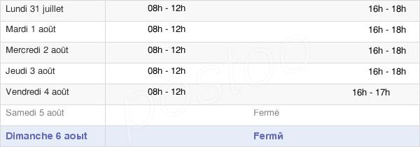 horaires d'ouverture de la Mairie De Caunes-Minervois